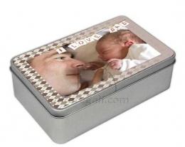 Scatola latta personalizzata con foto e scritte, regali per lui
