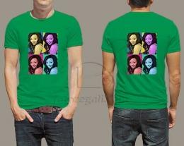 T-shirt personalizzata con foto pop art, regali per lui