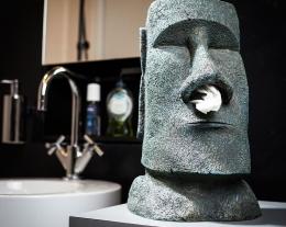 Regalo distributore fazzoletti moai, dispenser fazzoletti moai, regalo nuova casa
