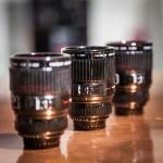 Regalo per appassionati di fotografia, tazzine caffè a forma di obiettivo macchina fotografica