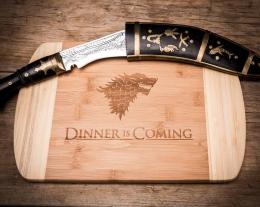 Tagliere dinner is coming, regalo casa nuova, regalo per lui cucina