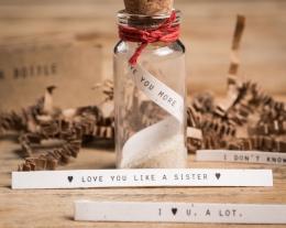 regalo romantico per lui, idee regalo romantiche, messaggio in bottiglia
