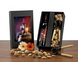 Set regalo vino e noci, regali per lui, idee regalo uomo