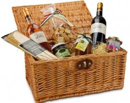 cesto regalo delizie mediterraneo, regali per lui cibo, idee regalo per chi ama mangiare