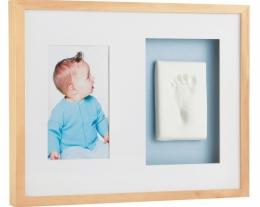 cornice babyprints, cornice con impronta piede, regalo battesimo bambino, idee regalo nascita