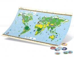 mappa interattiva mondo bambini, carta geografica bambini, regalo educativo bambino