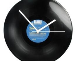 orologio da parete disco in vinile, regali originali, idee regalo per chi ama la musica