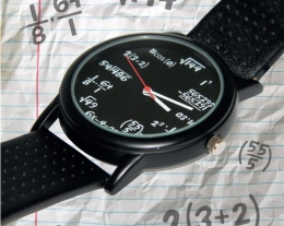 orologio da polso matematico, regali per lui, idee regalo per secchioni