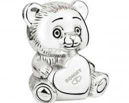 salvadanaio orsetto con incisione, regalo bambino nascita, regali personalizzati per battesimo