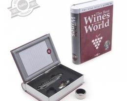 set vino con accessori per degustare il miglior vino, regalo per chi ama il vino, regalo pensione
