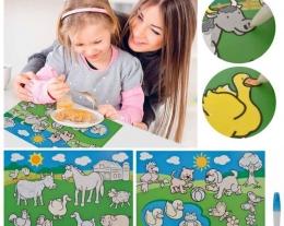 tovaglietta del pittore, idee regalo bambini, regalo bambino per mangiare