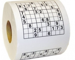 carta igienica sudoku, gadget divertenti, regali scherzosi, idea regalo per gli amanti del sudoku