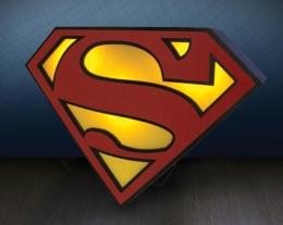 lampada logo superman, regali originali, idee regalo per lui