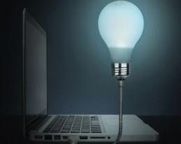 lampada usb lampadina, idee regalo originale, regalo utile
