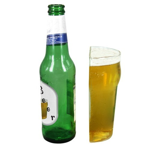 mezzo bicchiere di birra, regali divertenti per chi ama la birra, regalo ragazzo