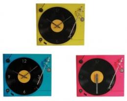 orologio da parete a forma di giradischi, regali originali per chi ama la musica, regali unici appassionati musica vintage