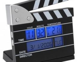 orologio da tavolo on sveglia ciak, regali per chi ama il cinema, idee regalo ragazzo, regali originali