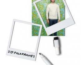 polaframes, portafoto magnetico da frigo, porta foto stile polaroid, regali originali