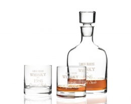 set da whisky personalizzabile con incisione, regali per chi ama il whisky, idee regalo uomo