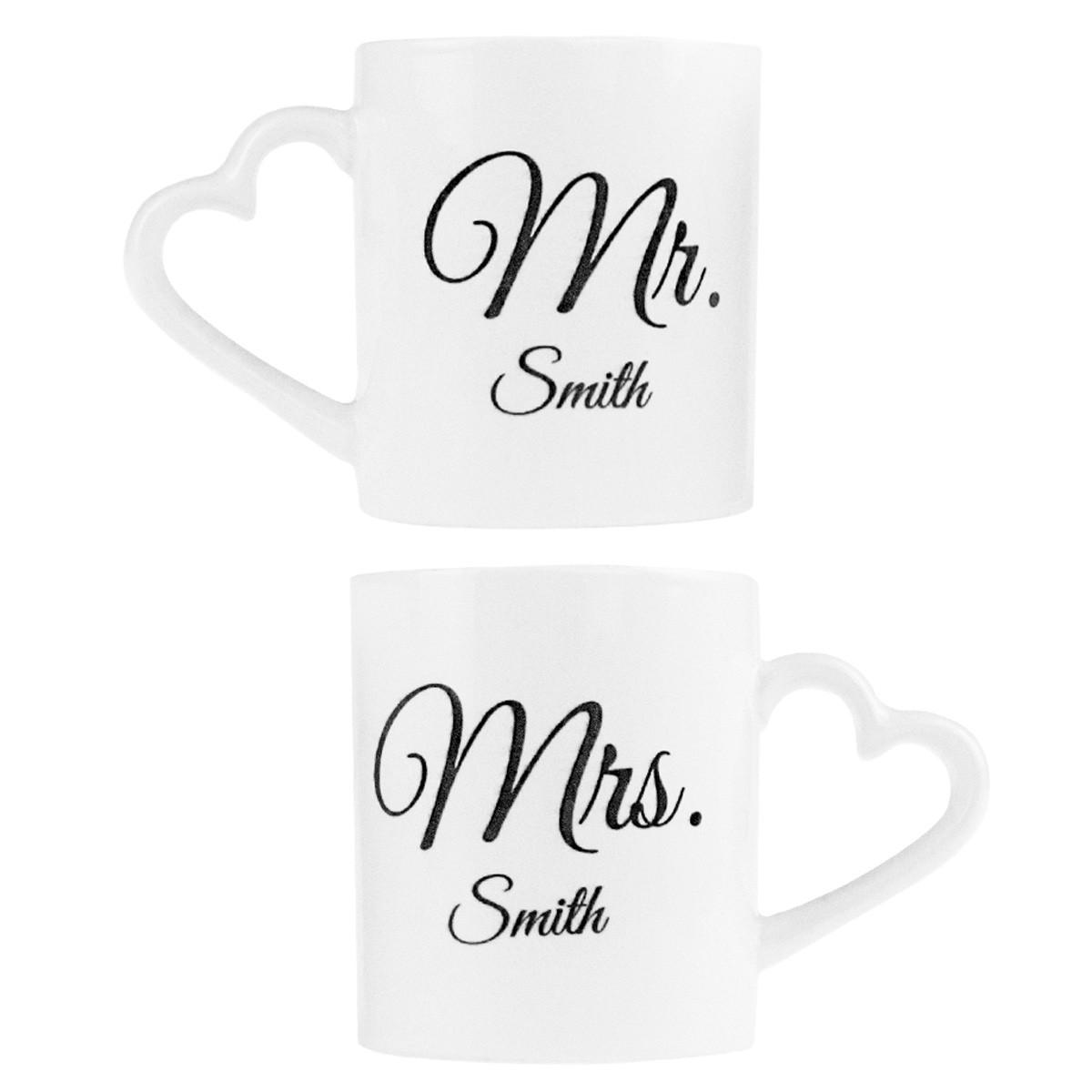 tazze mr e mrs, tazze personalizzare per la coppia, regali romantici
