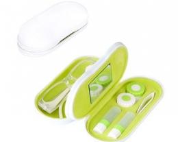 custodia per occhiali e lenti a contatto, regalo per miope, gadget viaggio