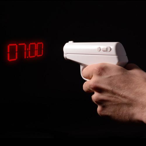 pistola proietta sveglia, regali divertenti, regali per lui