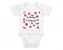Body neonato con baci nonna, regalo nascita