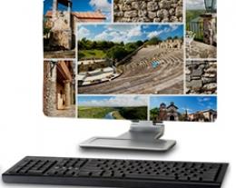 Copri monitor computer con foto, regali personalizzati per uomo