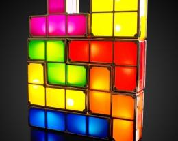 Lampada tetris, regalo originale per lui, regalo lampada originale