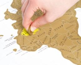 mappa mondo da grattare, regalo originale, scratch map regalo ragazzo