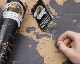 scratch map regalo, idee regalo per chi ama i viaggi, mappa mondo da grattare