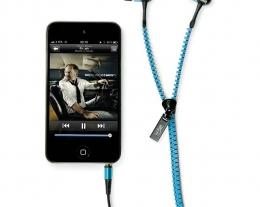 Auricolari con filo a zip, regalo per chi ama ascoltare la musica