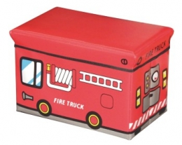 Scatola porta giochi camion pompieri, regalo bambino