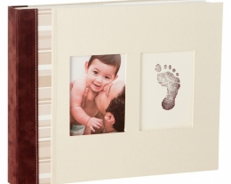 album fotografico con impronta neonato, regalo nascita bambino, idee regalo battesimo