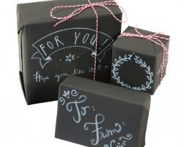 carta regalo lavagna, pacchetto regalo originale