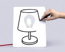 draw lamp, disegna la lampada, regalo per la casa