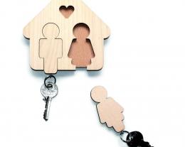 portachiavi casa dolce casa, regali per la nuova casa