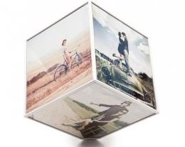 portafoto a forma di cubo, regali per lui personalizzati