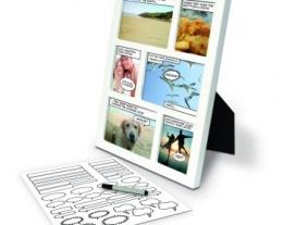 portafoto a fumetti, regalo per creativi, idee regalo da personalizzare