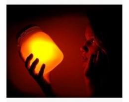 sun jar, lampada pannello solare, regalo ecologico, idee regalo originali d'arredo per la casa