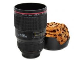 tazza obiettivo fotografico, idee regalo per gli appassionati di fotografia