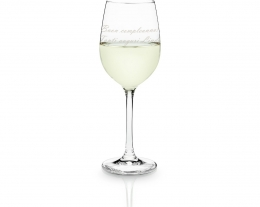 bicchiere da vino bianco personalizzabile con incisione, regali per lui, idee regalo per chi ama il vino