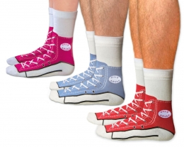 calze con sneakers disegnate, regali per lui, regali originali