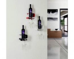 porta bottiglia e calici da vino, regali per chi ama il vino, idee regalo di design per la casa