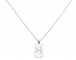 catenina con targhetta dog tag personalizzabile, catenina con incisione nomi, regali per lui romantici